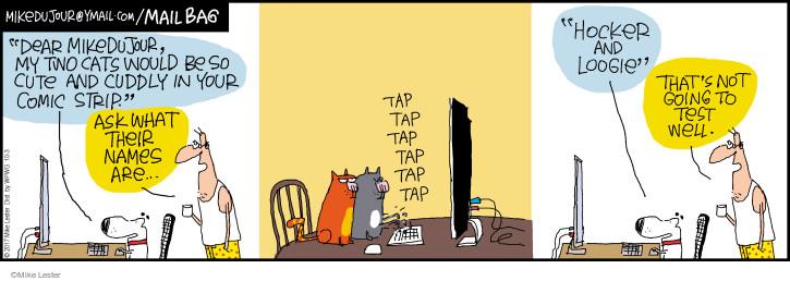 Comic Strip Mike Lester  Mike du Jour 2017-10-03 cat name