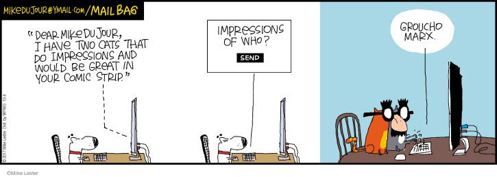 Comic Strip Mike Lester  Mike du Jour 2017-10-04 cat