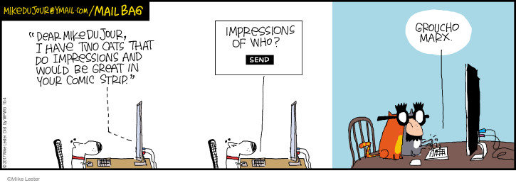 Comic Strip Mike Lester  Mike du Jour 2017-10-04 cat name