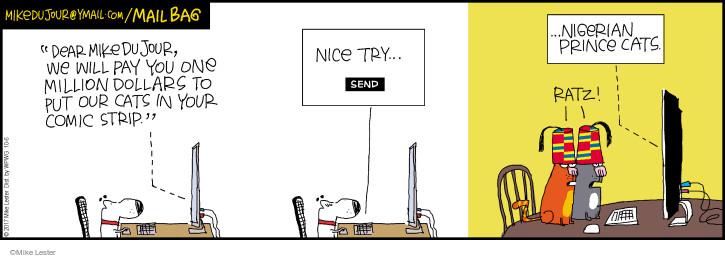 Comic Strip Mike Lester  Mike du Jour 2017-10-06 cat
