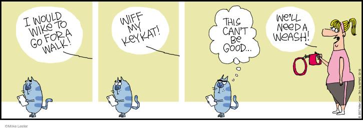 Comic Strip Mike Lester  Mike du Jour 2017-10-16 cat
