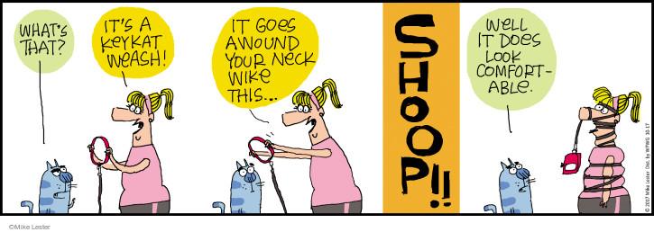 Comic Strip Mike Lester  Mike du Jour 2017-10-17 cat