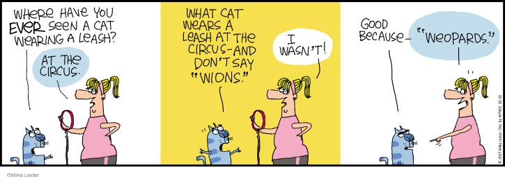 Comic Strip Mike Lester  Mike du Jour 2017-10-20 cat