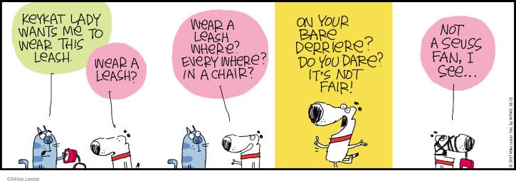 Comic Strip Mike Lester  Mike du Jour 2017-10-21 cat lady