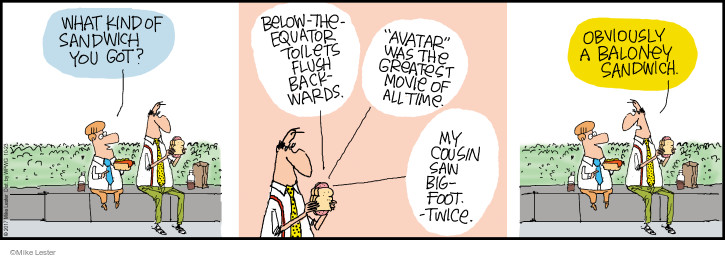 Comic Strip Mike Lester  Mike du Jour 2017-10-23 brag