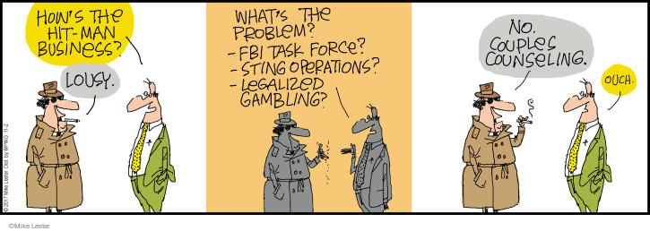 Cartoonist Mike Lester  Mike du Jour 2017-11-02 force