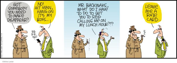 Cartoonist Mike Lester  Mike du Jour 2017-11-04 leave