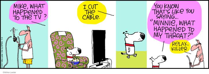 Comic Strip Mike Lester  Mike du Jour 2017-11-06 television