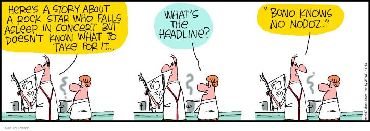 Cartoonist Mike Lester  Mike du Jour 2017-11-13 pill