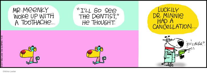 Cartoonist Mike Lester  Mike du Jour 2017-11-20 dentist