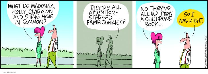 Cartoonist Mike Lester  Mike du Jour 2017-11-27 book