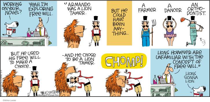 Comic Strip Mike Lester  Mike du Jour 2017-12-10 lion