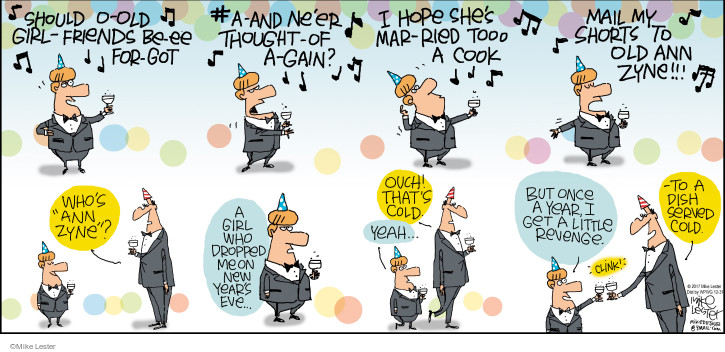 Comic Strip Mike Lester  Mike du Jour 2017-12-31 get old