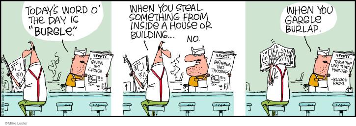 Comic Strip Mike Lester  Mike du Jour 2017-12-15 burgle