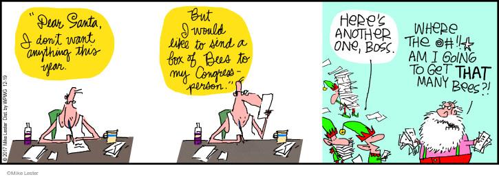 Comic Strip Mike Lester  Mike du Jour 2017-12-19 dear