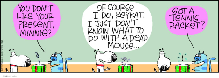 Comic Strip Mike Lester  Mike du Jour 2017-12-26 mouse