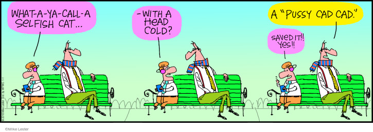 Cartoonist Mike Lester  Mike du Jour 2018-01-01 head cold