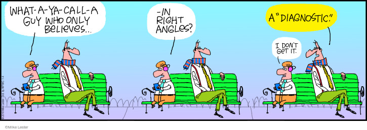 Comic Strip Mike Lester  Mike du Jour 2018-01-04 right angle