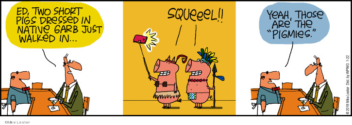Cartoonist Mike Lester  Mike du Jour 2018-01-22 pig