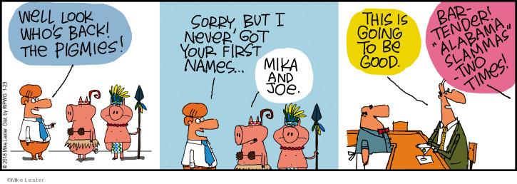 Cartoonist Mike Lester  Mike du Jour 2018-01-23 pig