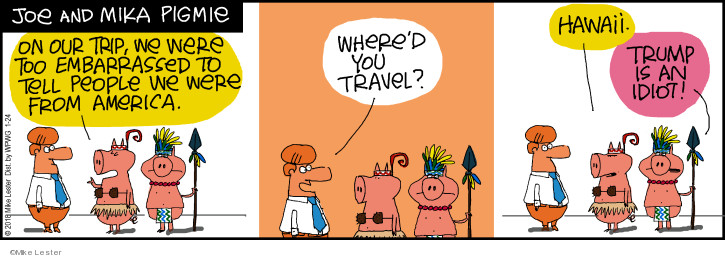Comic Strip Mike Lester  Mike du Jour 2018-01-24 travel