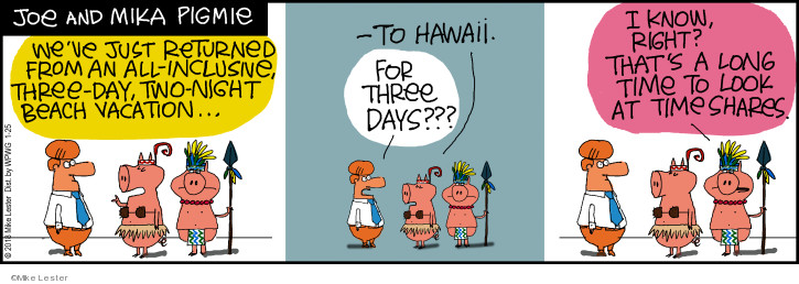Comic Strip Mike Lester  Mike du Jour 2018-01-25 vacation