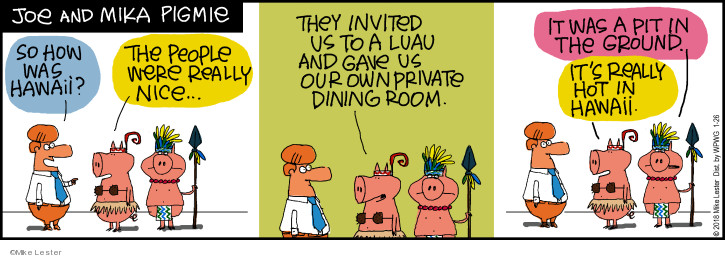 Comic Strip Mike Lester  Mike du Jour 2018-01-26 vacation