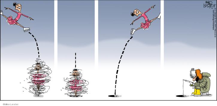 Comic Strip Mike Lester  Mike du Jour 2018-02-18 figure skater