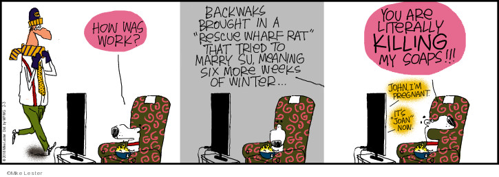Cartoonist Mike Lester  Mike du Jour 2018-02-03 rescue