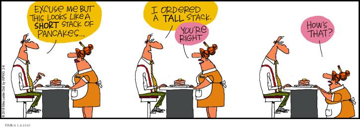 Cartoonist Mike Lester  Mike du Jour 2018-02-08 order