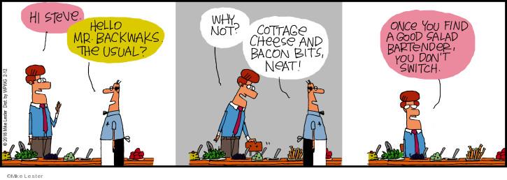 Cartoonist Mike Lester  Mike du Jour 2018-02-12 bartender