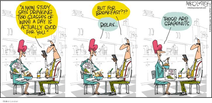 Cartoonist Mike Lester  Mike du Jour 2018-03-18 wine