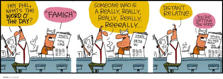 Cartoonist Mike Lester  Mike du Jour 2018-03-16 family