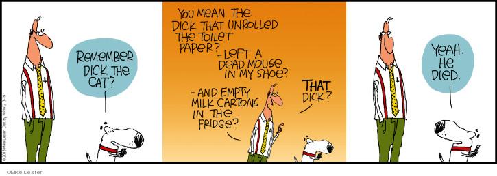 Comic Strip Mike Lester  Mike du Jour 2018-03-19 toilet paper