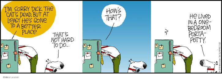 Comic Strip Mike Lester  Mike du Jour 2018-03-22 cat
