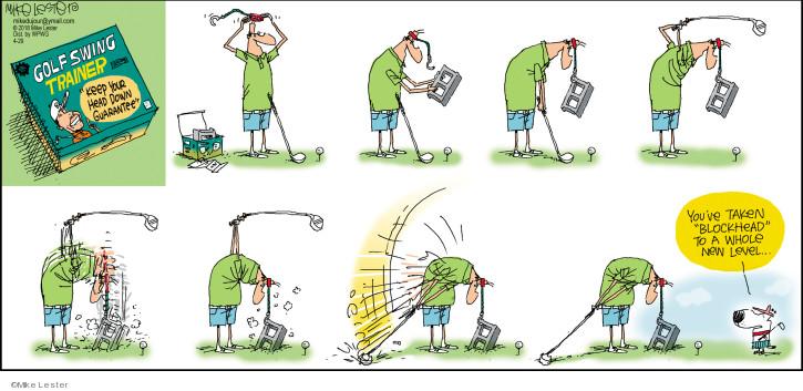 Comic Strip Mike Lester  Mike du Jour 2018-04-29 golf swing
