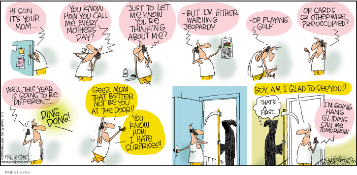 Comic Strip Mike Lester  Mike du Jour 2018-05-13 mom