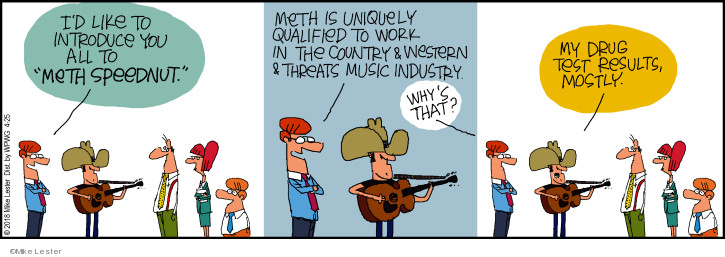 Cartoonist Mike Lester  Mike du Jour 2018-04-25 drug