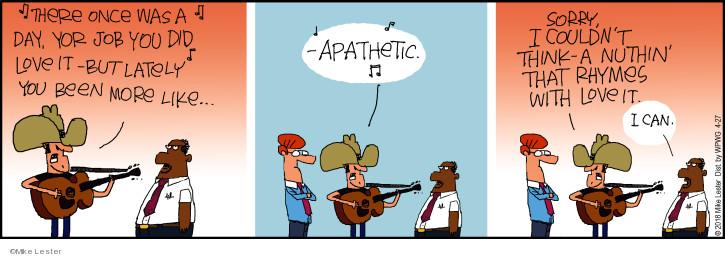 Cartoonist Mike Lester  Mike du Jour 2018-04-27 song
