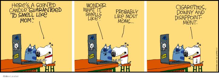 Cartoonist Mike Lester  Mike du Jour 2018-05-01 candle
