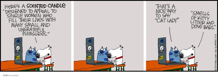 Comic Strip Mike Lester  Mike du Jour 2018-05-14 cat litter