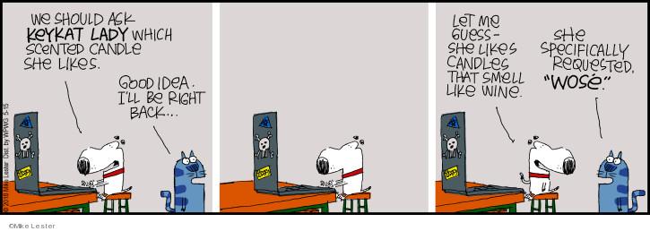 Comic Strip Mike Lester  Mike du Jour 2018-05-15 cat lady