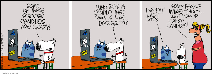 Comic Strip Mike Lester  Mike du Jour 2018-05-17 cat