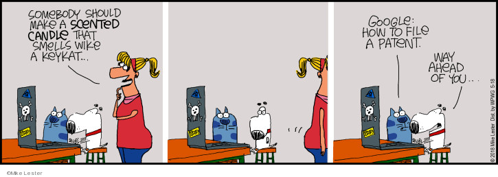 Comic Strip Mike Lester  Mike du Jour 2018-05-18 cat
