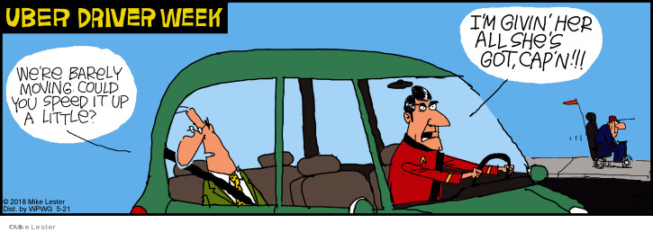 Comic Strip Mike Lester  Mike du Jour 2018-05-21 speed