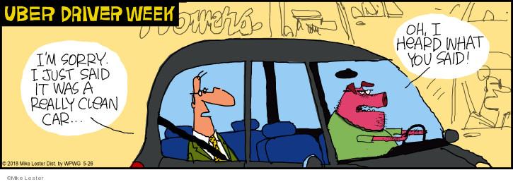 Cartoonist Mike Lester  Mike du Jour 2018-05-26 automobile