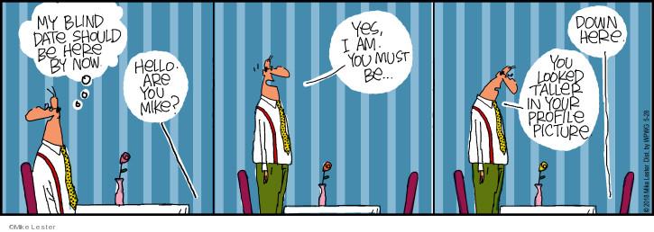 Comic Strip Mike Lester  Mike du Jour 2018-05-28 blind