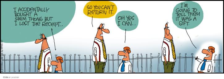 Cartoonist Mike Lester  Mike du Jour 2018-06-07 accidentally