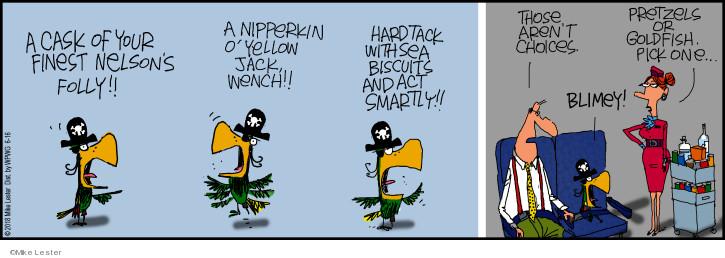 Cartoonist Mike Lester  Mike du Jour 2018-06-16 flight