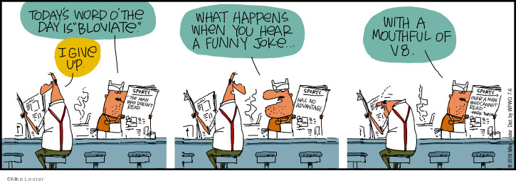 Cartoonist Mike Lester  Mike du Jour 2018-07-06 happen